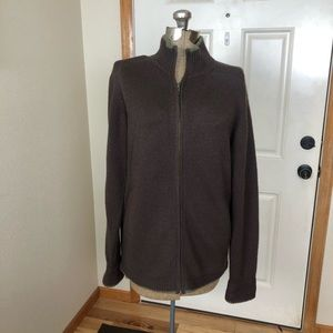 Patagonia Mens Cashmere Brown Zippered Sweater